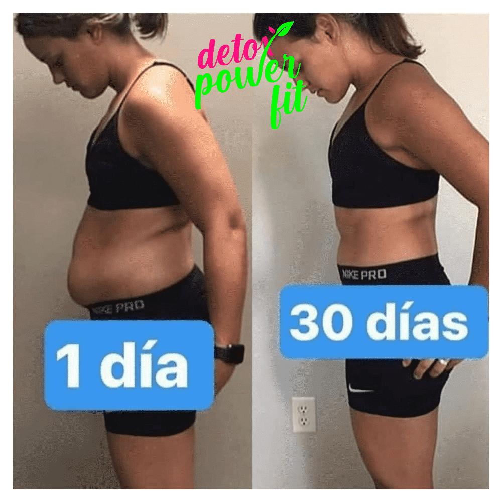Antes e depois de usar o Detox power fit